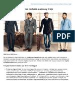 5 Reglas Para Combinar Camisa, Corbata y Traje