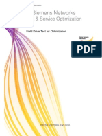 General Guidelines for Field Drive Test for Optimization