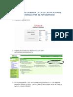Manual Generacion de Listas