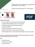 Modeling Poker -3part