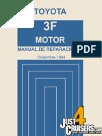 Toyota 3F Motor Manual de Reparaciones Diciembre 1984