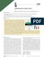 2011 Wang ES&T Efficient Reduction of Nitrobenzene to Aniline With a Biocatalyzed Cathode