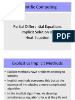 Day27 PDE Heat Equation Implicit