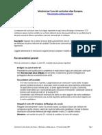 Curriculum Vitae Europeo Europass In Italiano