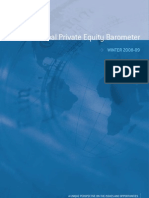 Global Private Equity Barometer Winter 2008-2009 - Coller Capital