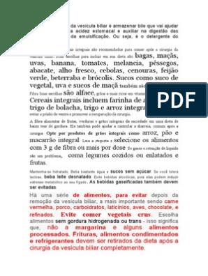 colecistectomia dieta post operatoria pdf