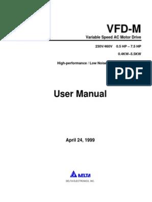 Vfd M User Manual Alternating Current Power Supply