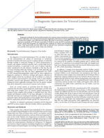 Evaluation of Urine as a Diagnostic Specimen for Visceral Leishmaniasis in Sudan