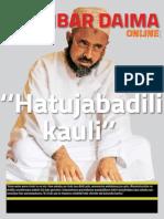 Zanzibar Daima Online, Toleo la Tano