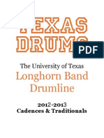 2012 Texas Drums Cadences and Traditionals