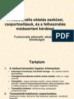 A tradicionális oktatás eszközei, csoportosításuk és a