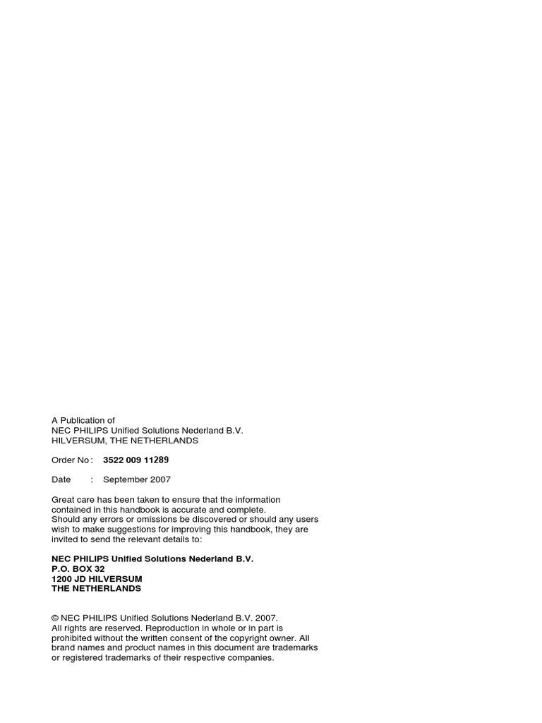 R14.0 Command Manual - NEC NEAX 2000 IPS   Telephone Exchange   Voice Over  Ip