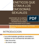 PATOLOGIA. Trastornos geneticos