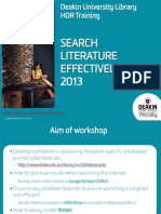 Search Literature Effectively