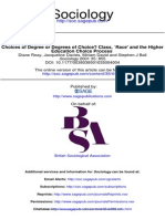Choices of Degree or Degrees of Choice. Class, `Race' and the Higher Education Choice Process