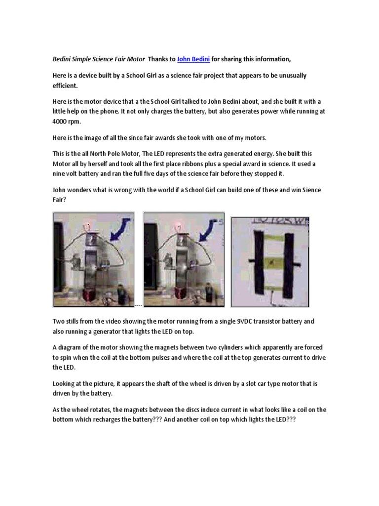 bedini simple science fair motor thanks to transistor  bedini motor tech reference