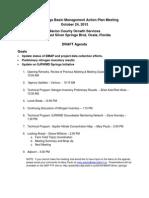 Silver Springs BMAP October Meeting DRAFT Agenda