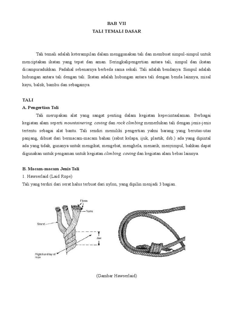 Simpul Tali Temali Lengkap