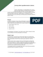 13342242 Structuring a Better Legal Memorandum or Opinion[1]