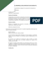 4.1 Etapas Proyecto de Oleoducto