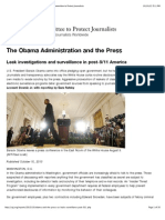 The Obama Administration and the Press - Reports - Committee to Protect Journalists. October 10, 2013