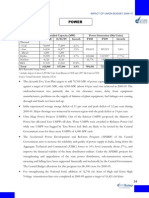 Impact of Union Budget 2009-10 on Power Sector India