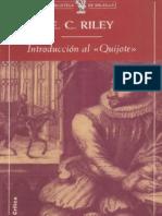 Riley E C Introduccion Al Quijote