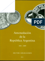 Amonedacion de La Republica Argentina 1881 2009