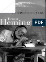 Al Romper El Alba - Hemingway, Ernest