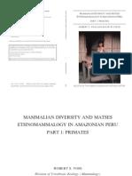 Voss & Fleck 2011 - Diversity & Ethnomammalogy of Primates in Amazonian Peru