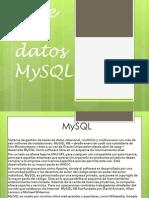 base de datos mysql