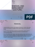 Remedial and Enrichment