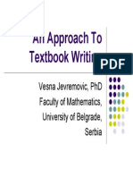 Jevremovic-An Approach to Textbook Writing