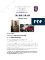 Press Release Missing Person Chad Cookson 13 28161