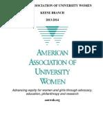 2013 AAUW Keene Program Book