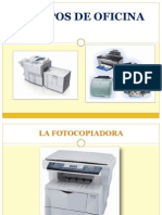 Exposicion Fotocopiadora y Escaner