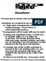 Coffee Club Basic Instruction sheet for donations