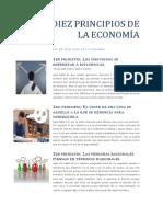 LOS DIEZ PRINCIPIOS DE LA ECONOMÍA