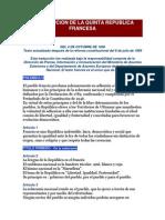 CONSTITUCION DE LA QUINTA REPÚBLICA FRANCESA