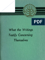 New Jerusalem Church WHAT THE WRITINGS TESTIFY CONCERNING THEMSELVES BrynAthyn 1961