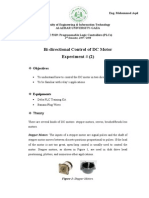 Programmable Logic Controllers_Bi-Directional Control of DC Motor