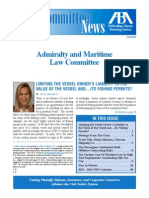 Fall 2013 Newsletter - ABA TIPS Admiralty & Maritime Law Committee
