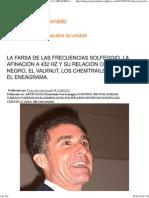 LA FARSA DE LAS FRECUENCIAS SOLFEGGIO, LA AFINACIÓN A 432 HZ Y SU RELACIÓN CON EL CUBO NEGRO, EL VALKNUT, LOS CHEMTRAILS Y EL ENEAGRAMA