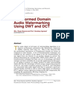 Audio watermarking using DCT and DWT