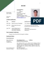 Resume - Rkk