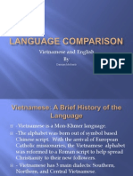 Vietnamese and English Comparison