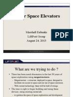Lunar Space Elevators