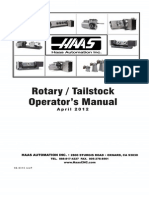Haas 96-0315P Rotary Tailstock Operators Manual