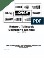 Haas 96-0315P Rotary Tailstock Operators Manual