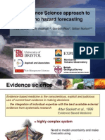 An Evidence Science approach to volcano hazard forecasting